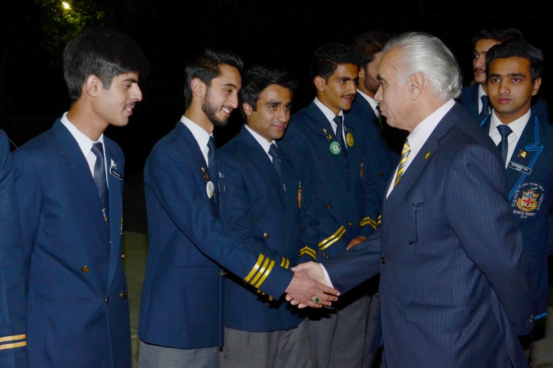 Prefects with the Principal