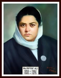 Miss Riffat Ali JS