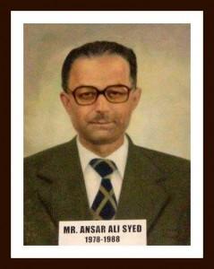 Mr Ansar Ali Syed