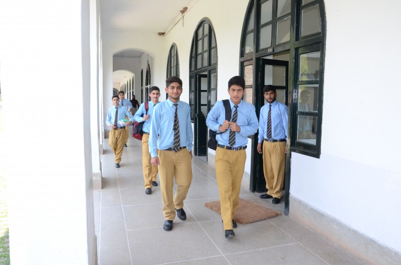 Senior School Boys in Academic Block