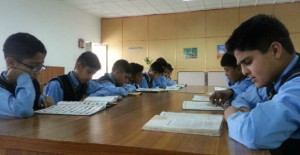 Prep School Boys Studying