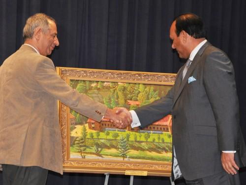Mian Zahir Shah with Principal Kiyani