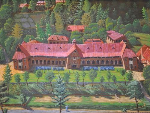 Painting of Senior School by Mian Zahir Shah