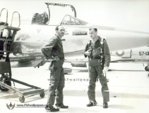 F-104 Squadron - Middlecoat with Air Marshall Nur Khan