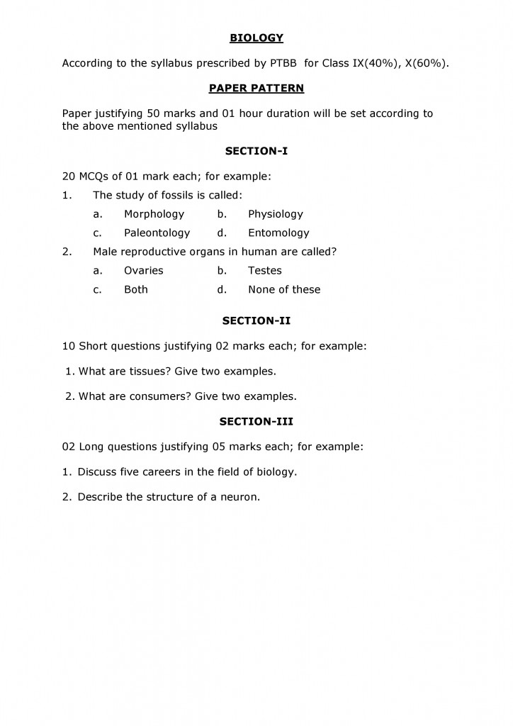 SYLLABUS AND PATTERN OF ADMISSION TEST OF CLASS XI-page-002